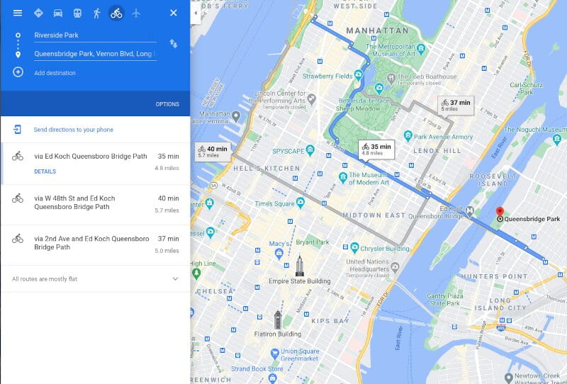 Plan Your Bicycling Routes With Google Map